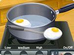البيض المقلي مع اللحم